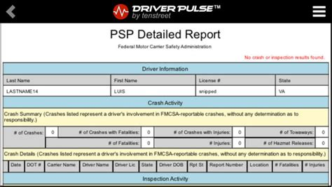 Psp Background Check Driver Pulse Now Provides Free Copies Of Psp Cdlis Mvrs And Employment History