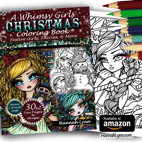 libro a whimsy girls christmas a whimsy girls christmas coloring book autographed paperback