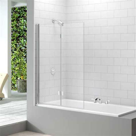 folding shower screens for baths screens merlyn 2 panel folding bathscreen 1500 x 1100mm