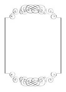 free border templates for invitations free vintage clip images calligraphic frames and borders