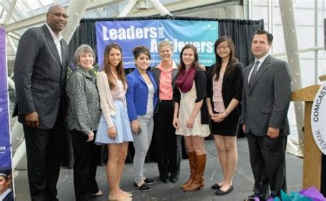 the signees from lincoln southwest left were vanessa kavan four portland public schools students receive leaders and