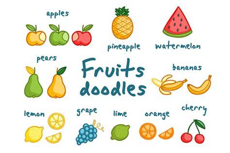 doodle fruit fruits doodles patterns on creative market