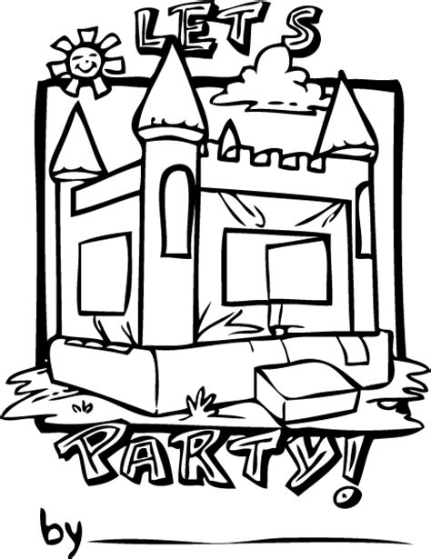 bouncy castle coloring page bouncy castle free colouring pages