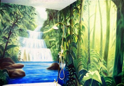 jungle bathroom jungle bathroom mural tropical bathroom san