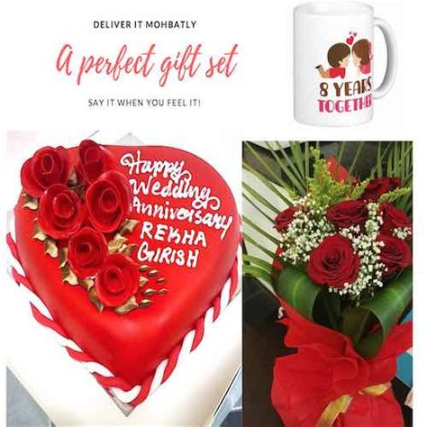 Wedding Anniversary Gift Delivery by Gift Combo For Wedding Anniversary Sku49 Gifts