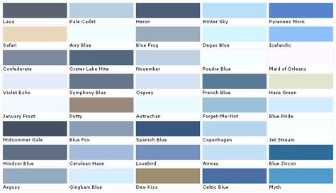 blue auto paint color chart ideas unique exterior car paint colors architecture 1968 ford