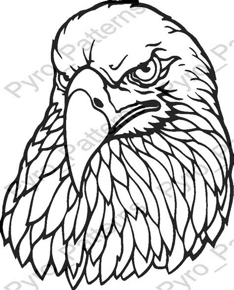 free wood burning templates eagle bird pyrography wood burning pattern printable