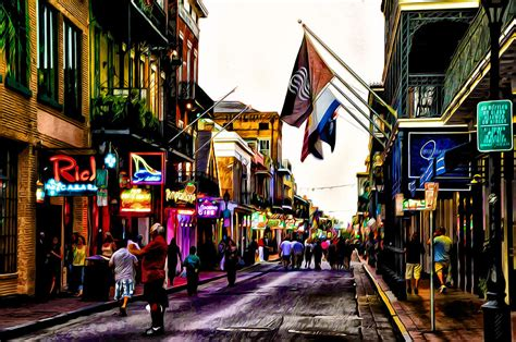 What Is Down In A Duvet A Walk Down Bourbon Street Photograph By Bill Cannon