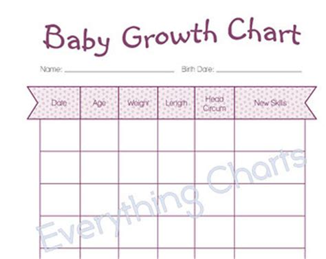 printable children s growth chart master grocery list pdf file printable