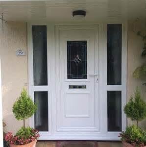 White Upvc Front Door With Side Panel Upvc Flood Doors The Flood Company