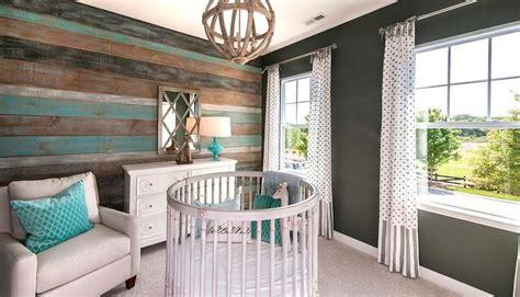 turquoise blue  gray nursery design   crib