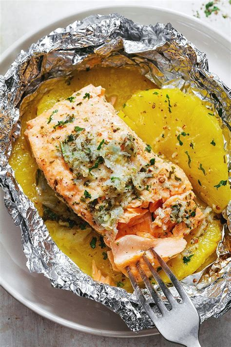 garlic lemon butter salmon  foil  pineapple eatwell