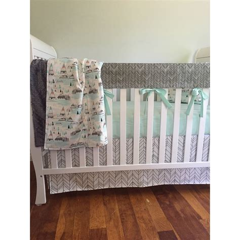 Woodland Crib Bedding Crib Bedding Baby Bedding Crib Rail Cover Woodland Nursery