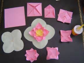 Paper Folding Lotus - how to fold a lotus flower