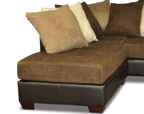 scatter back modern sectional sofa w oversized back pillows