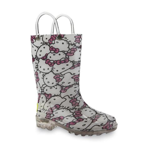 girls light up rain boots western chief s hello kitty light up