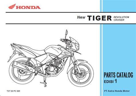 Spare Part Honda Tiger 2008 Xmal Motor Bengkel Sepeda Motor Katalog Suku Cadang