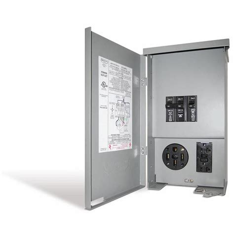 connecticut electric 60 rv panel outlet with 50