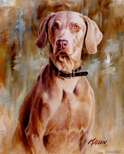 dogs painting 35 beautiful paintings and from top artists around the world