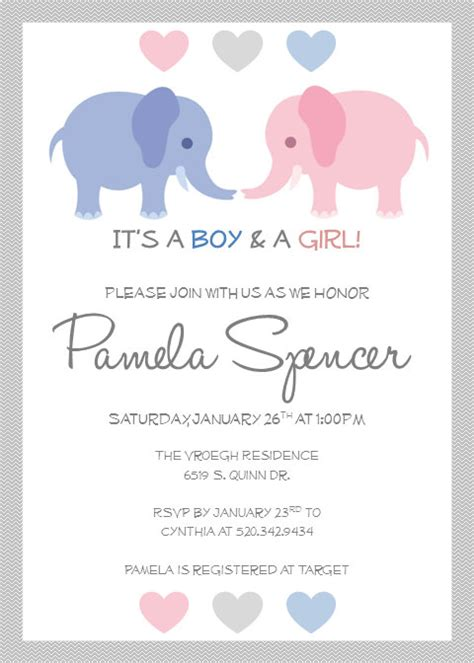 baby shower invitations templates for twins printable twin baby shower invitations by pamelasdigitalprints