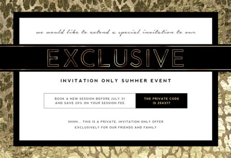 Invitation Letter Sle Event Photographer Marketing Template Invite Only Sales Event