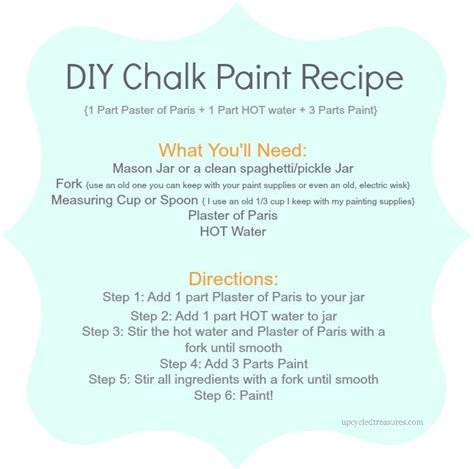 diy chalk paint recipe upcycled treasures