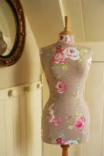 shabby chic mannequin items similar to polkadot vintage floral print mannequin