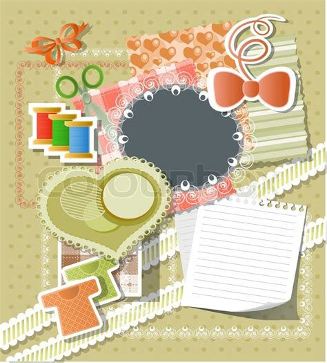 Frugal Scrapbooking 2 9 by Scrapbook Background Stock Vector Colourbox