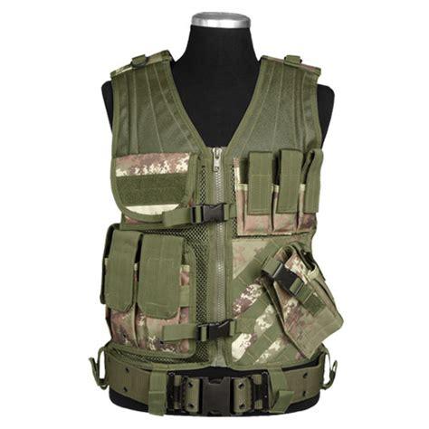 Jaket Tad Impor Woodlands army combat usmc tactical vest mag pouches range