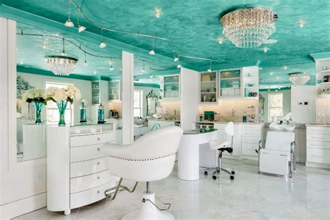 the powder room salon residential blue spa tropical powder room portland maine by shore built