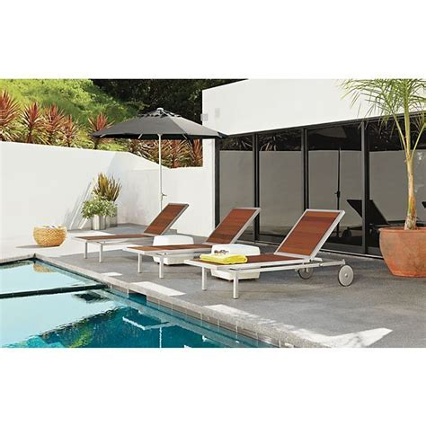 room and board outdoor montego stainless steel chaise outdoor room board landscape design