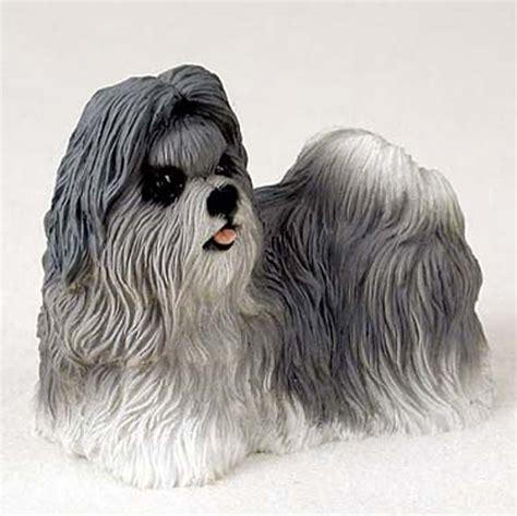 shih tzu statues shih tzu painted figurine statue gray ebay