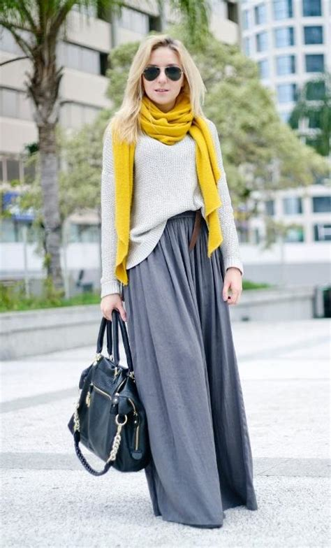 how to style your maxi skirt in winter just trendy