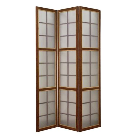 6 panel room divider moroccan 6 ft brown 3 panel room divider sg 190 the home depot