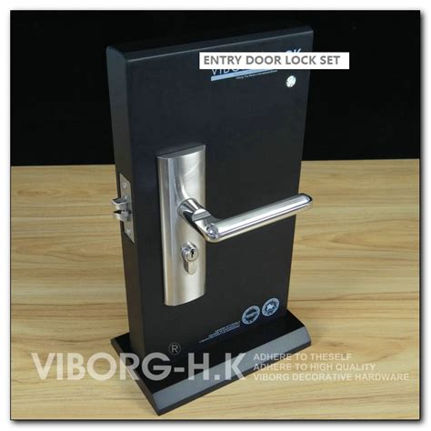Exterior Door Lock Set Viborg Quality Security Entry Door Mortise Lever Lock Set Keyed Entry Door Lock Set Satin