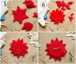 felt flower tutorial how to make a poinsettia
