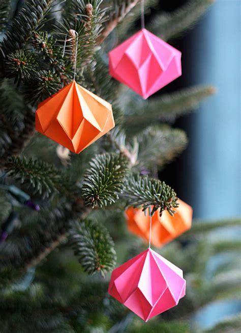 diy christmas decorations popsugar smart living paper diamond ornaments 34 creative diy christmas