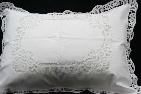Battenburg Lace Pillow Shams by Elite Battenburg Lace Bedding Ensemble Matching Sheet Sets The Lace And Linens Co