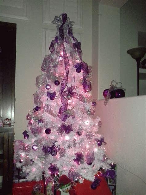 white christmas tree wpurple white christmas tree decorations white christmas trees