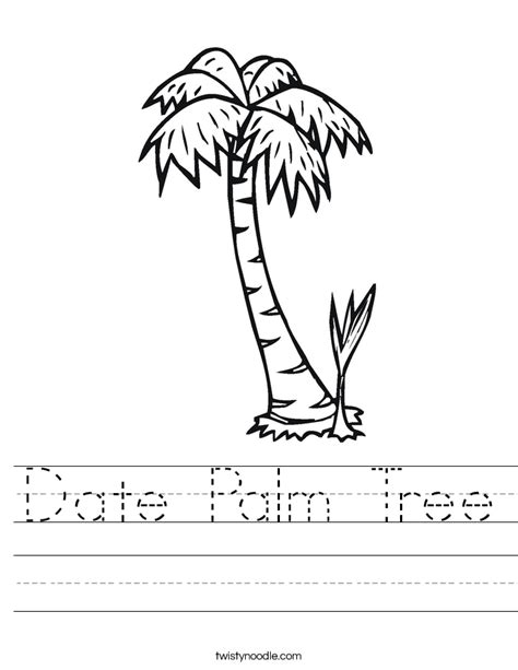 date tree coloring page date palm tree worksheet twisty noodle