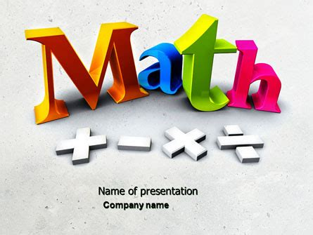 mathematics powerpoint template free download gavea info
