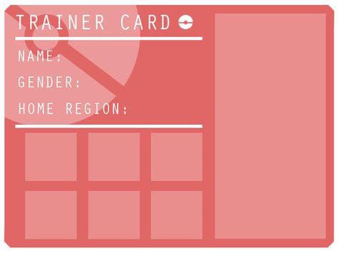 trainer card template trainer card template by kun on deviantart