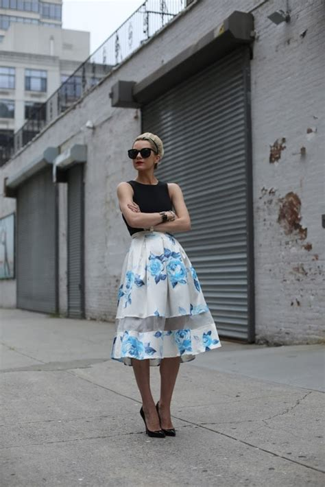 Topshop Ladybird Skirt by Blue Burnout Floral Midi Skirt Skirts Clothing Topshop