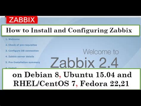 tutorial zabbix 2 4 debian how to install configuring zabbix 2 4 5 on debian 8