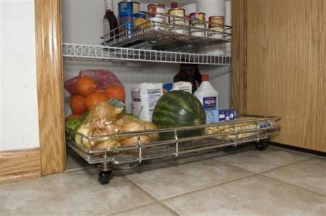 Kitchen Pantry On Wheels by Shelf On Wheels Expandable Kitchen Pantry Roll Out With