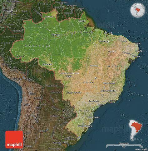 satellite map of brazil satellite map of brazil darken
