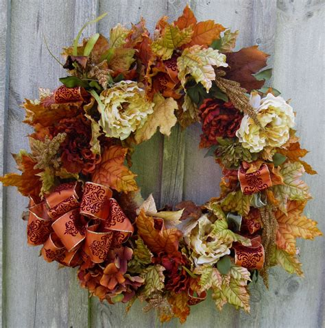 autumn wreaths fall wreaths autumn floral wreath by newenglandwreath