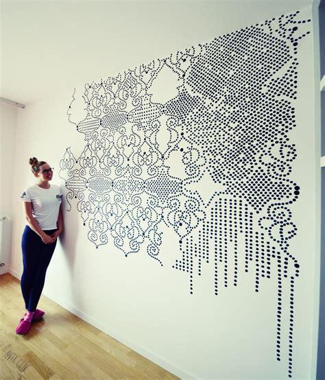 lace pattern wall art lace pattern art on the wall anita genc wall mural