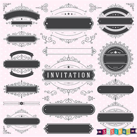 Wedding Invitation Decorations by Free Decorative Wedding Clip 39