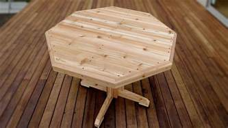 How To Build A Patio Table How To Make A Wooden Patio Table